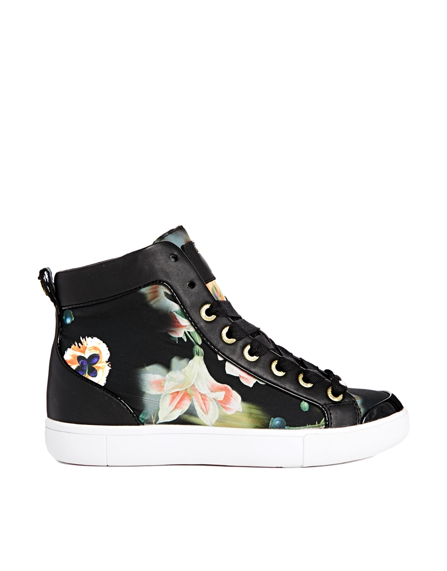 Ted Baker Callistri Opulent Bloom Hi Top Sneakers