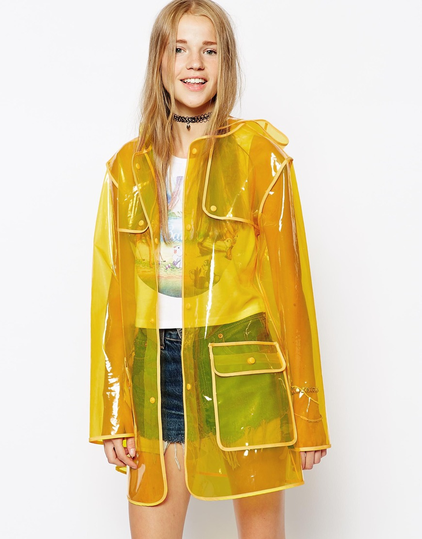 ASOS Clear Rain Trench