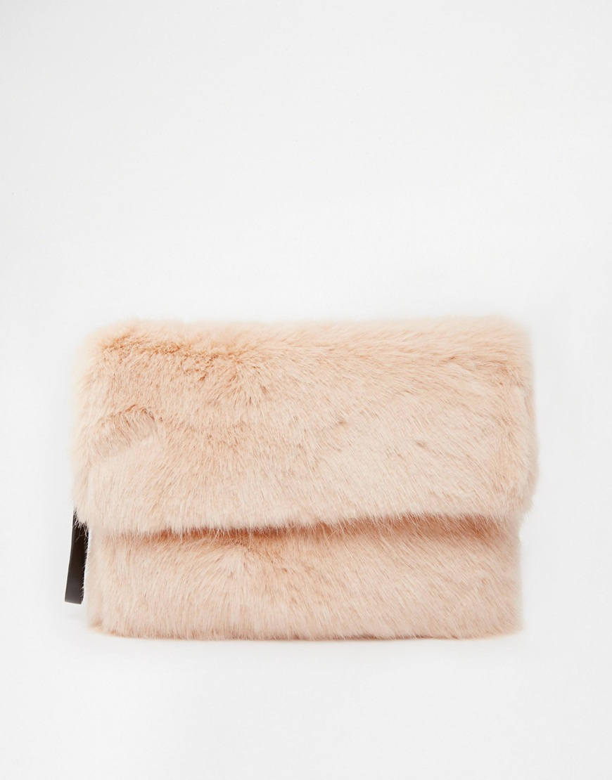 RIVER ISLAND PINK FUR Clutch   $56.85