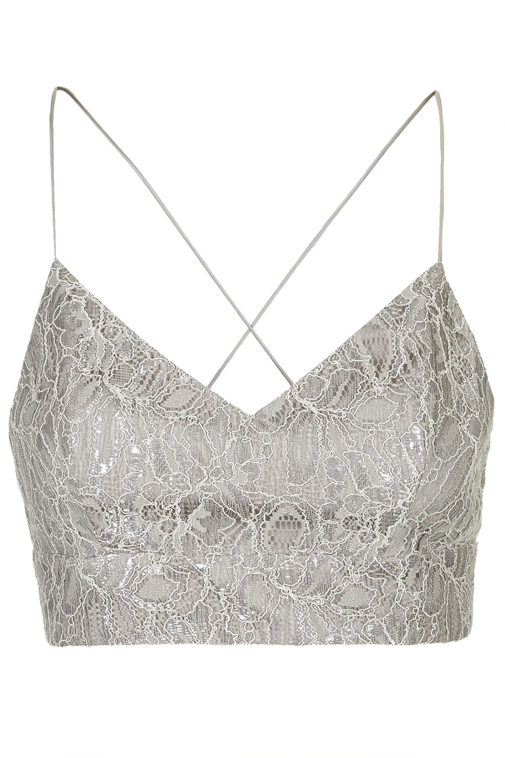 LACE LUREX BRALET   $35.00