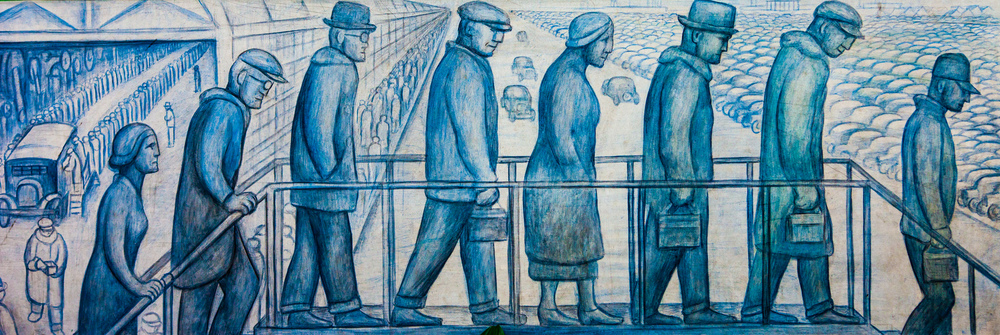 "—photo of Diego Rivera's ""Detroit Industry Mural"" by Thomas Hawk"