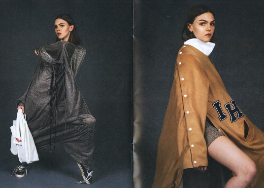 Two outfits from Hall's senior lookbook | Photos by Lyndsey Kamide