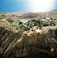 The kibbutz of Ein Gedi by the Dead Sea