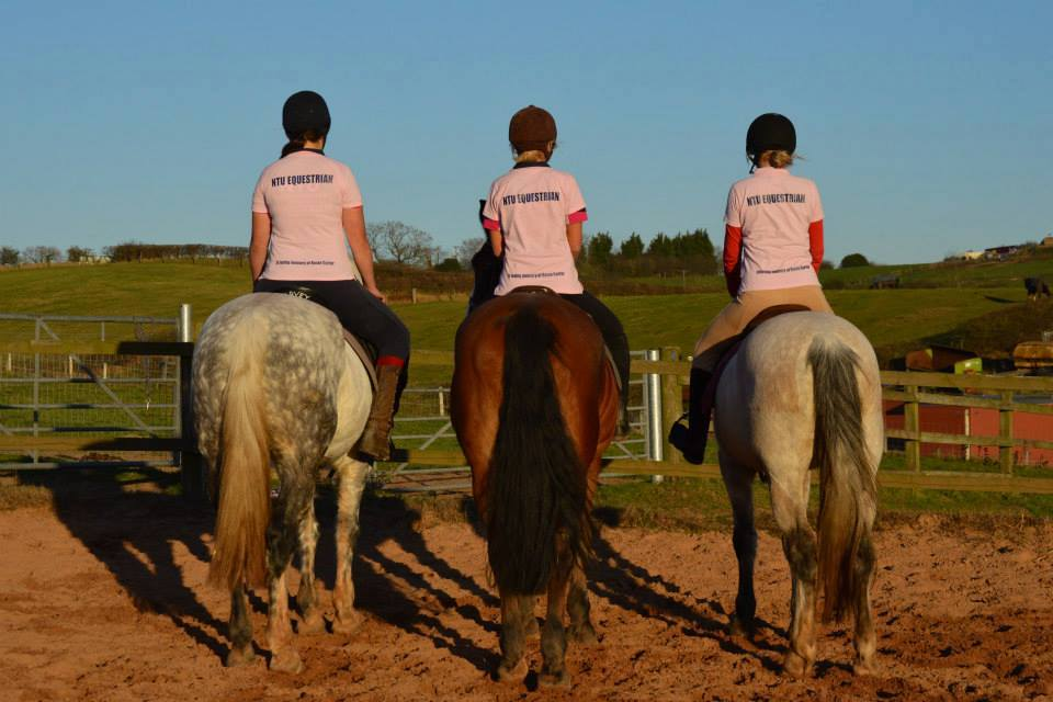 NTU girls showing support wearing their Rosie Carter pink t shirts
