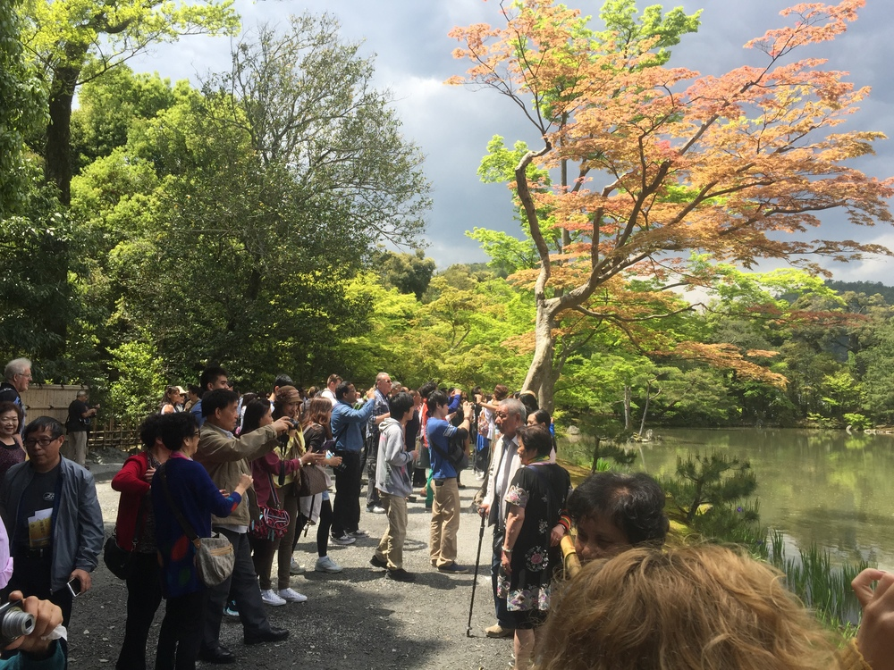 Crowds at Kinkakuji - iPhone 6 plus