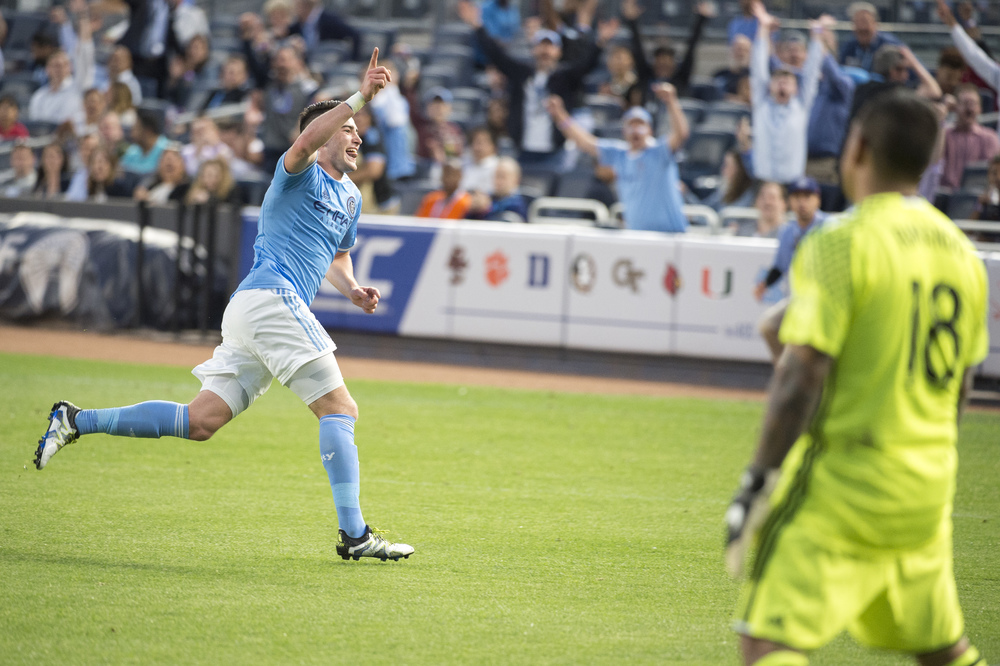 NYCFC forward - 19 year old rookie Jack Harrison celebrates his first career MLS goal!