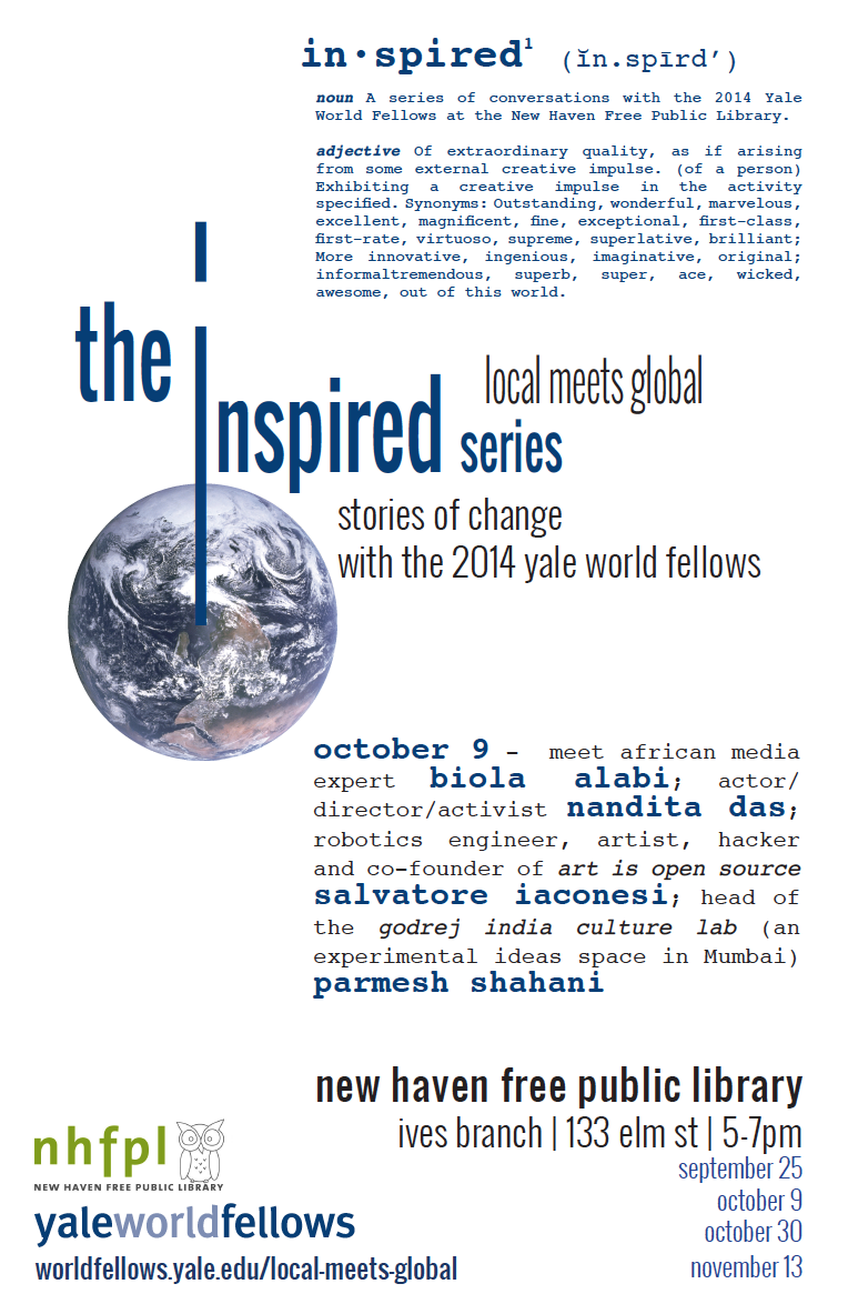 The Inspired Series w/ Yale World Fellows