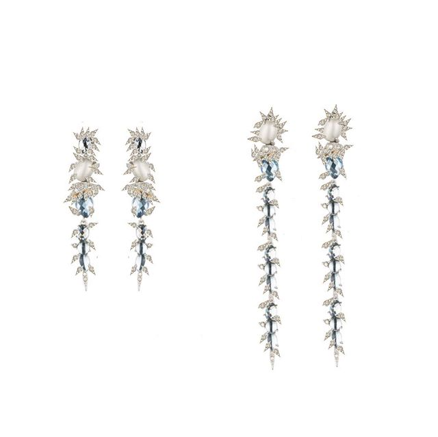 #elegant #sophisticated #times look #earrings #diamonds #whotegold #perls