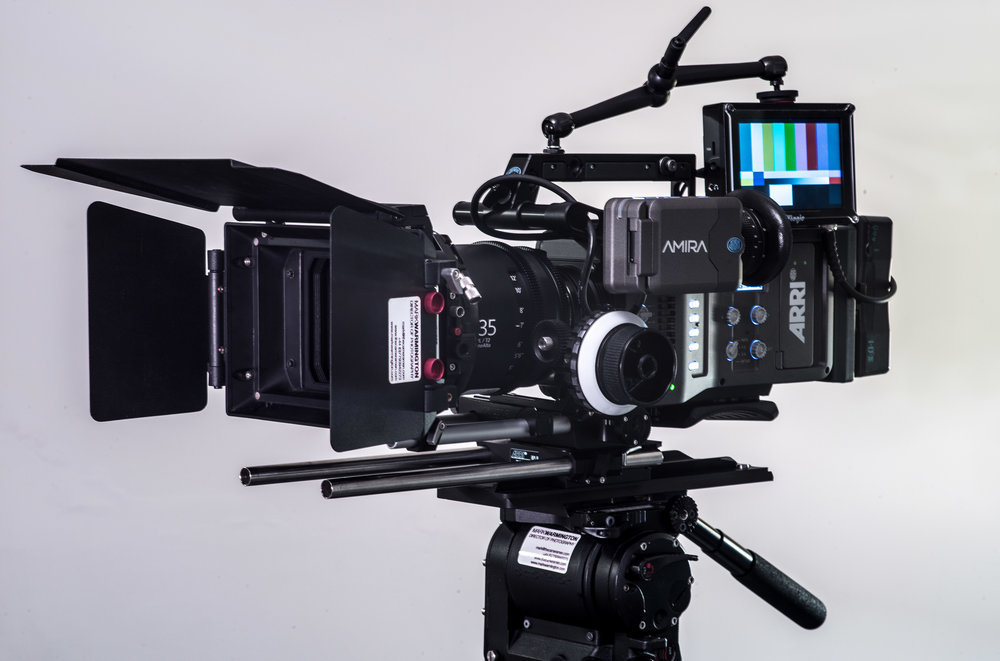 Arri Amira rigged for studio/commercial shoots.