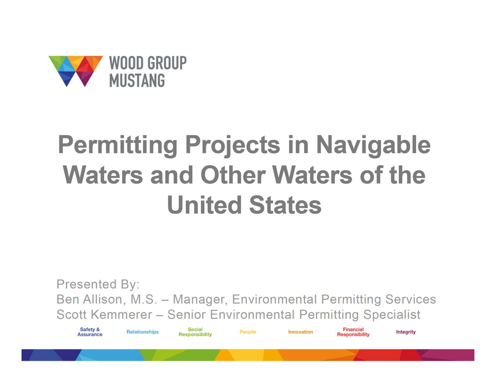 permitting projects in navigable waters and other waters of the united states
