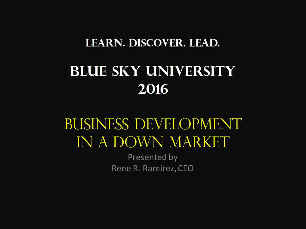 Business Development in a Down Market
