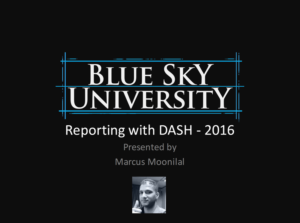 Reporting with DASH