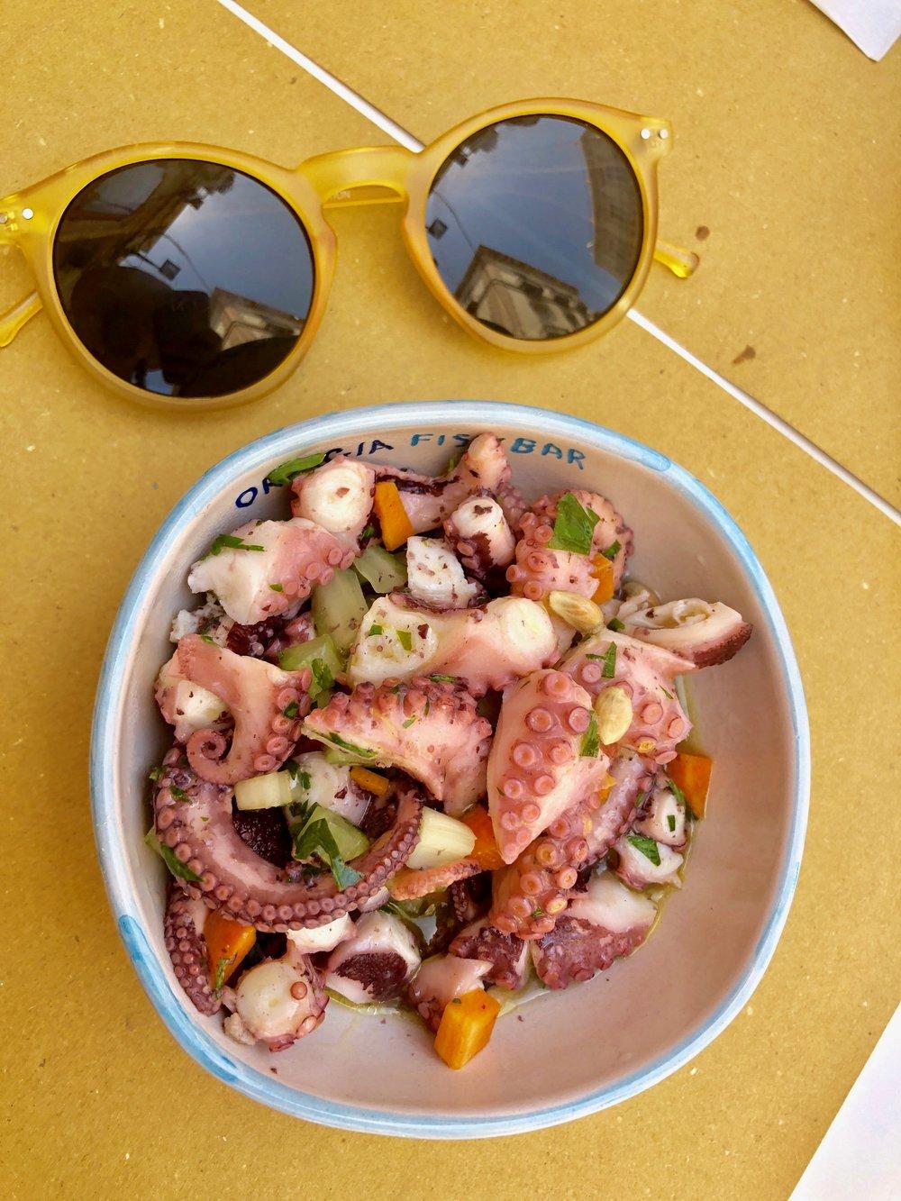 ortegia fish bar octopus