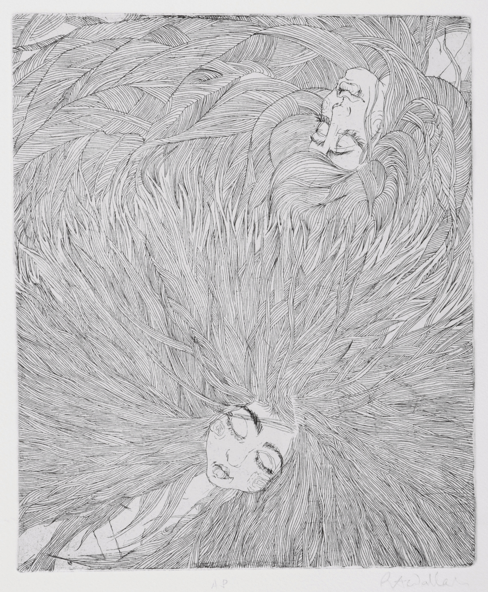 the other one ends , etching on paper, 2009