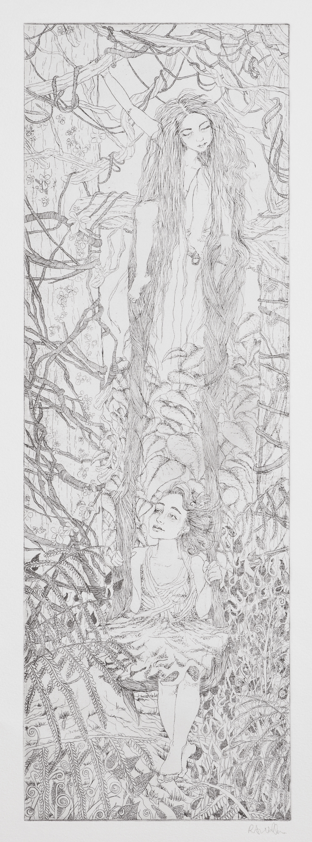 swing , etching on paper, 2009
