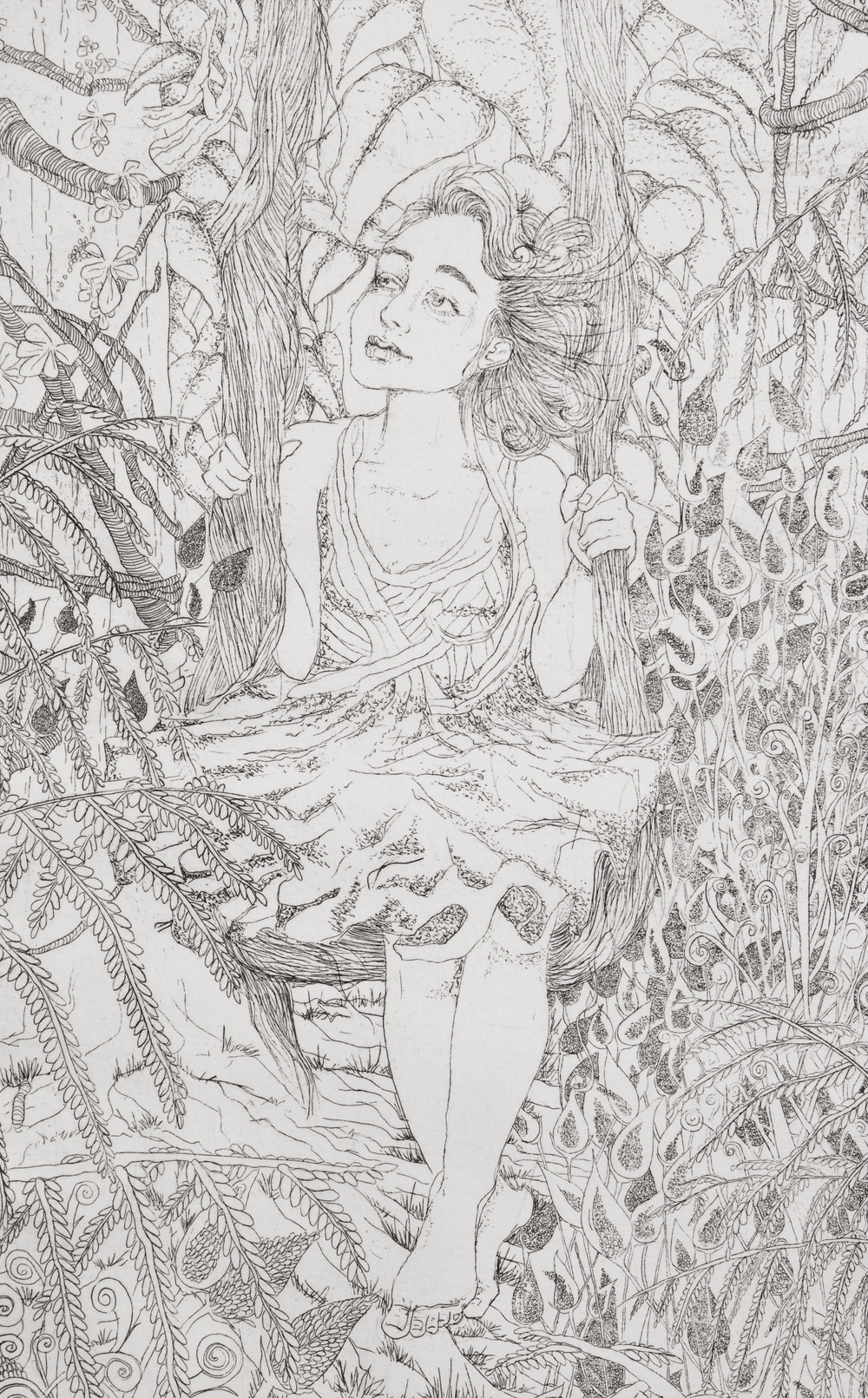 (detail) swing , etching on paper, 2009