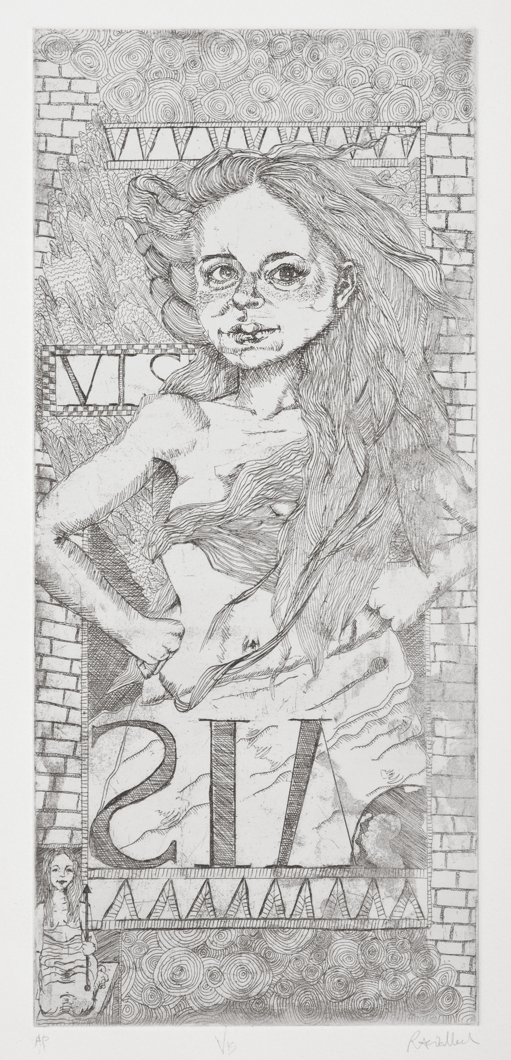 vis , etching on paper, 2005