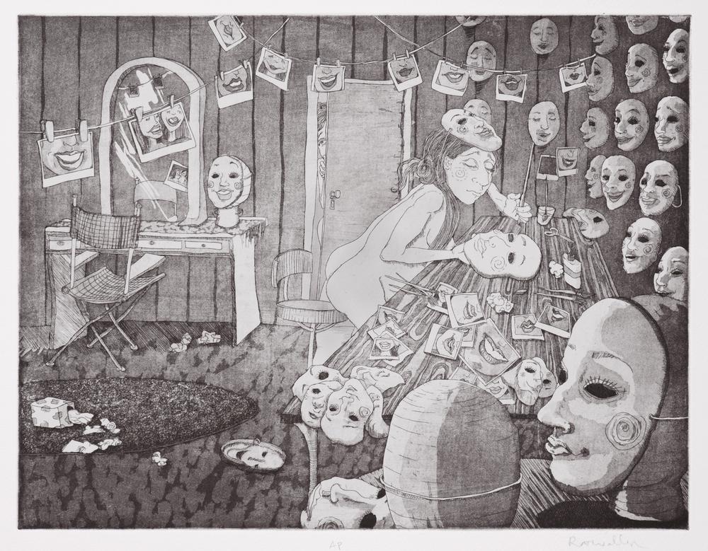 workshop , intaglio on paper, 2009