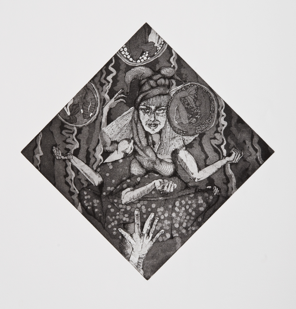 juggler , intaglioon paper, 2010
