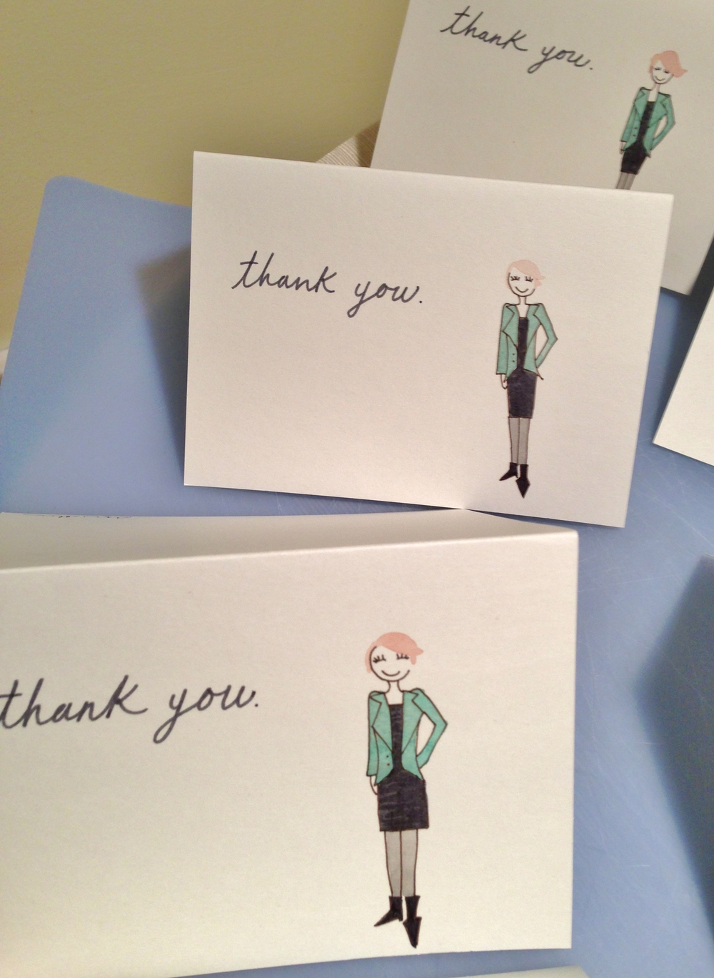 "personalized ""thank you"" cards"