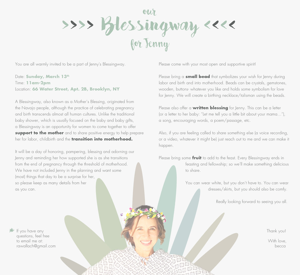 Print Design - Weird lil invitation: Blessingway