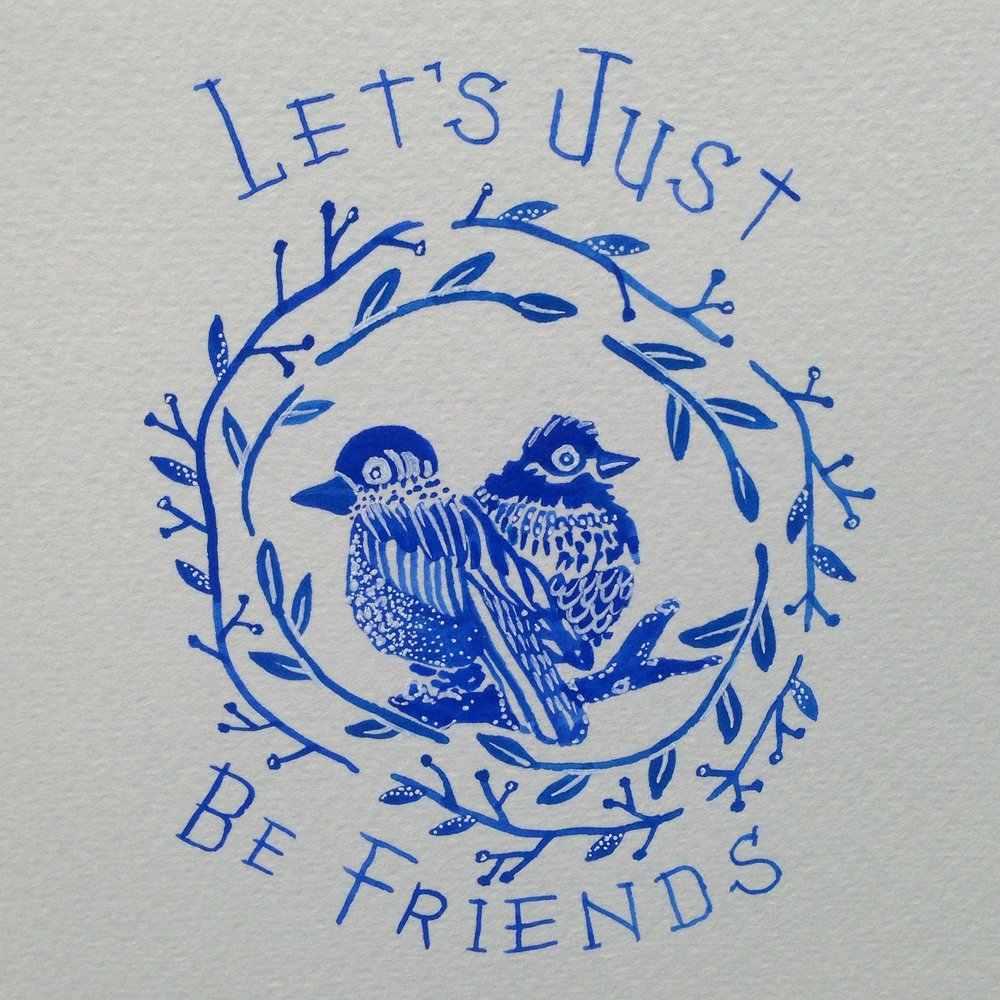 Let's Just Be Friends card
