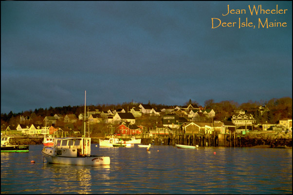 """Awakening"" – sunrise in Stonington Harbor"