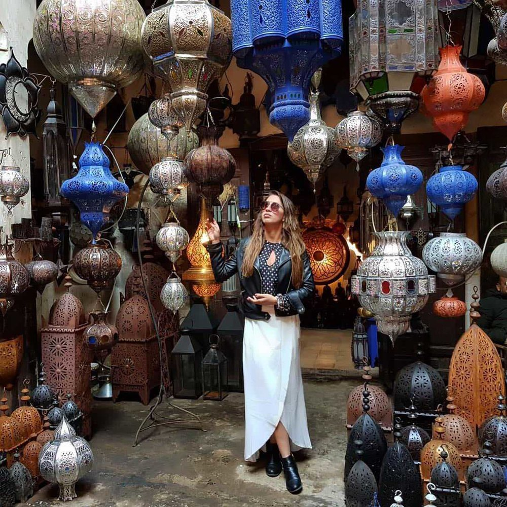 #1. The Souk District - One of the most interesting and overwhelming places I've been, and surely the best place to capture the full essence of Marrakech. This place is crazy - the sights, smells, noise and hustle and bustle cannot be believed until you get here - do not miss getting lost in this maze. Take your time!You can buy pretty much anything here and should expect to pay maximum 40% of the asking priceTop Tip: Sellers can seem overly aggressive at first and forward toward women. Dress appropriately covering your shoulders and knees and be firm in saying no - you'll soon see the friendly side of the sellers