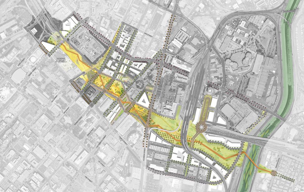 Conceptual Site Plan for the FWY Cap Park