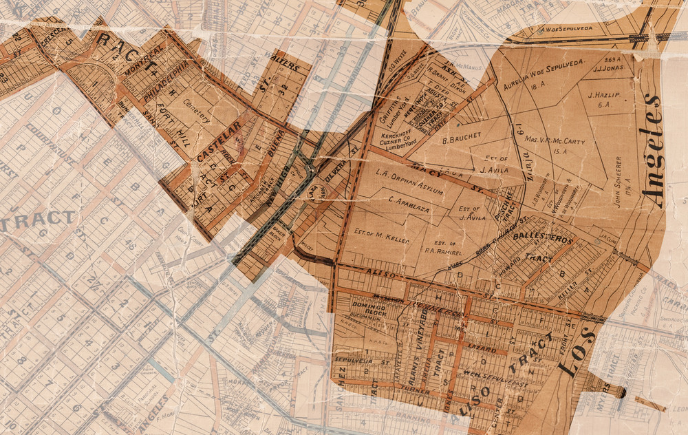 Downtown Los Angeles Map 1887