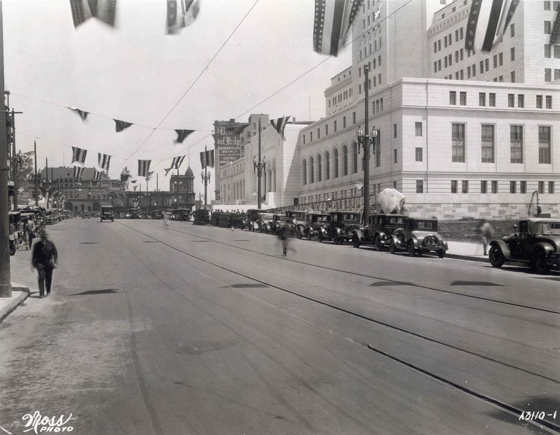 Spring Street (realigned) from First Street, 1929
