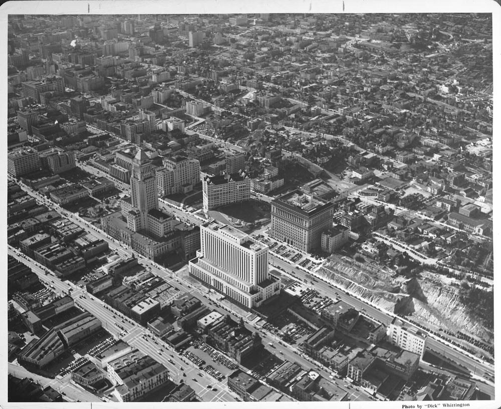 Lkg SW above Civic Center, 1959