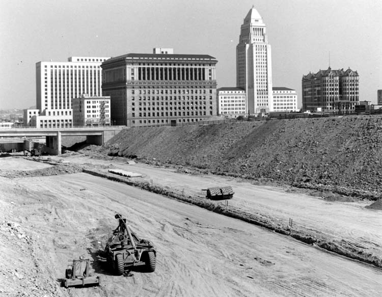 Hollywood Fwy construction, ca. 1950