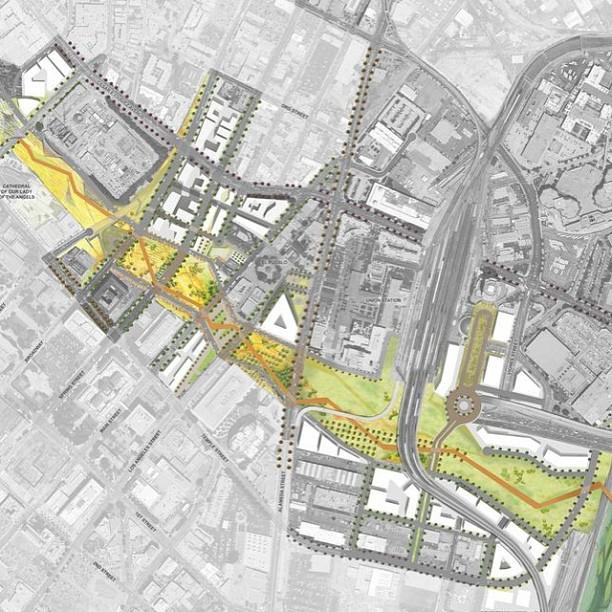 A vision for #DTLA! #park101 #LosAngeles #freeway #cap #park