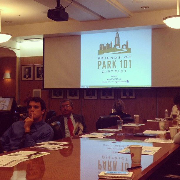 #Park101 on the agenda at today's land use and housing council meeting at the #LosAngeles Chamber of Commerce.