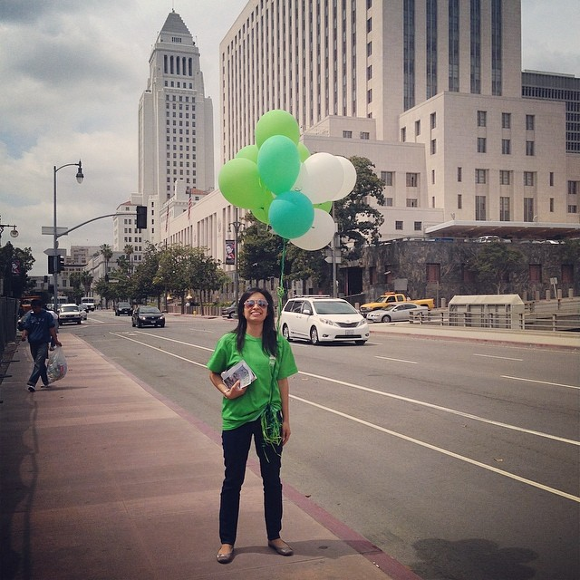 #Park101 awareness day! We are out on the streets of #DTLA spreading the word.