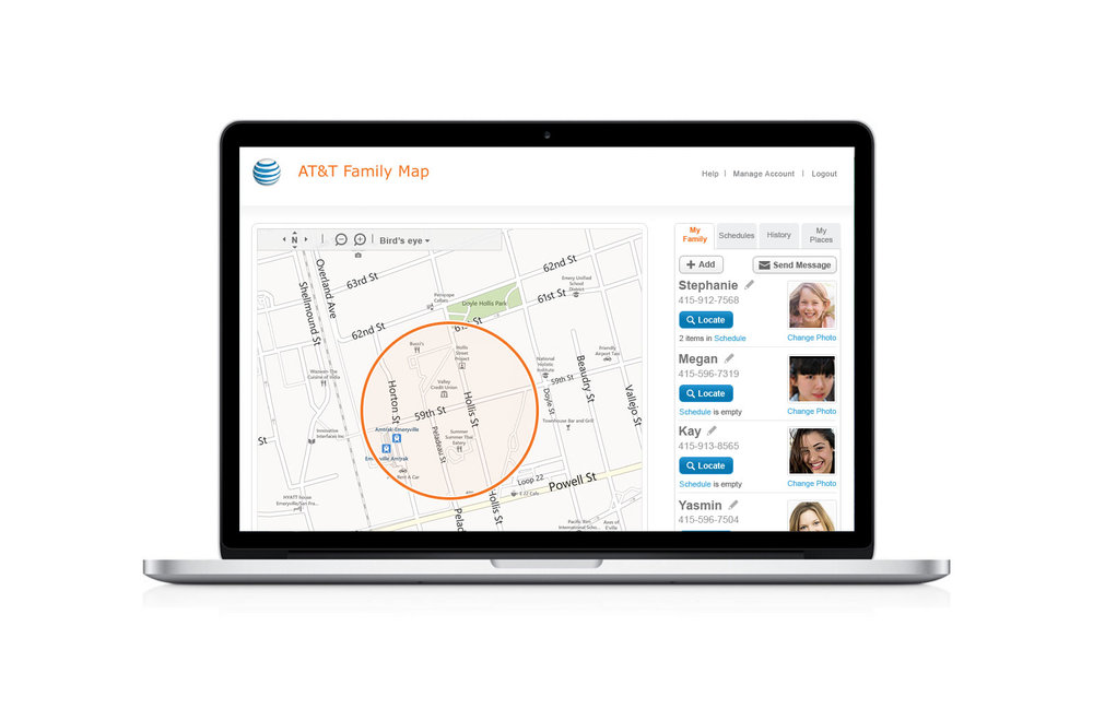 AT&T Family Map — Stephanie Haumueller on
