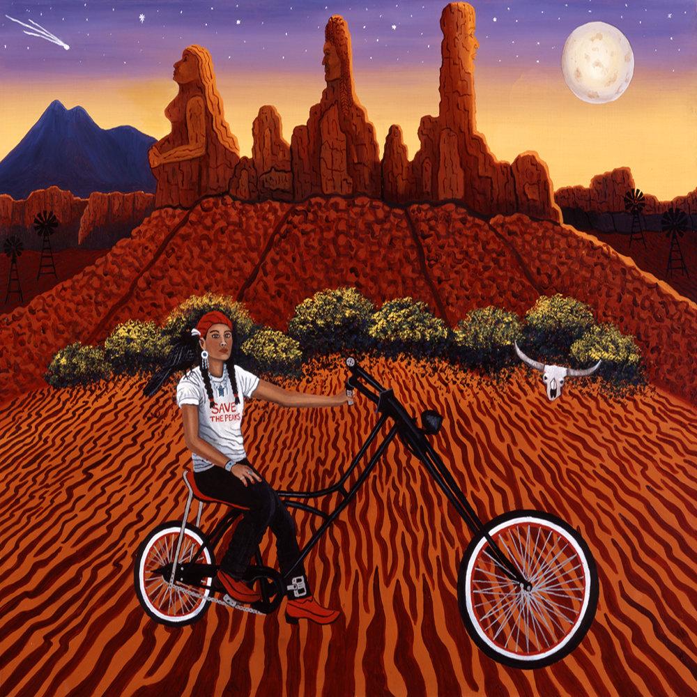 Navajo Biking Goddess