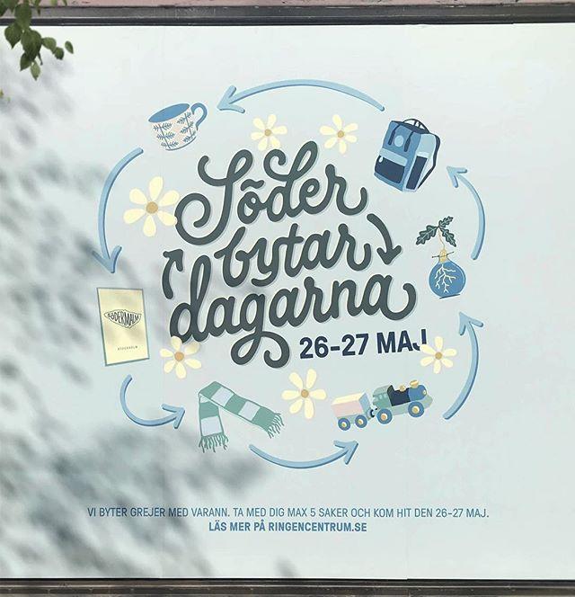 Wordmark and illustrations for @ringencentrum #soderbytardagarna