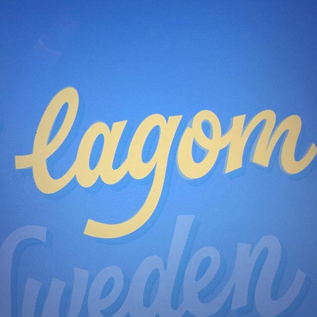 A little bit of lagom. #lettering #lagom #typografi