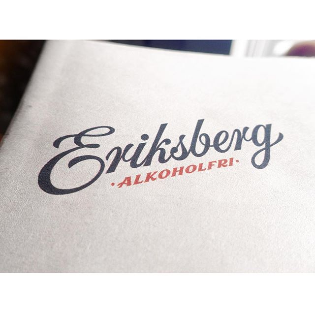 Swedish brewery Eriksberg has been given a facelift. I was commissioned to redraw the logotype, signature and various taglines. #lettering #typography #typografi #logotype #eriksberg