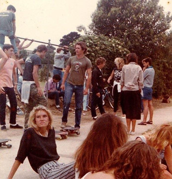 Some rats hanging out after school near Loadie Lane. 1984