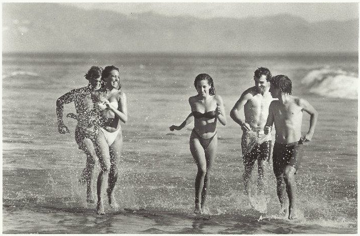 Wet rats running on Butterfly Beach. 1984