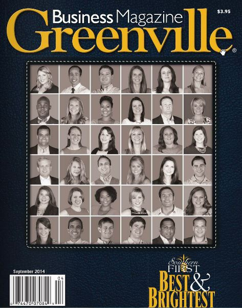 September Issue of Greenville Business Magazine's 2014 Best & Brightest Under 35