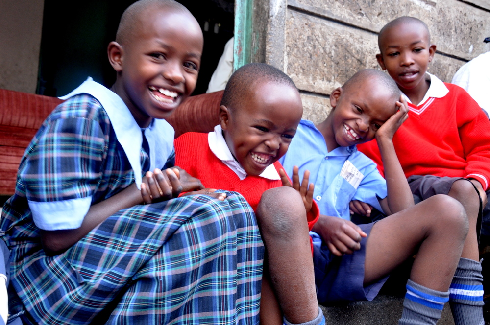 Children from the Victorious Joy Orphanage in Nairobi