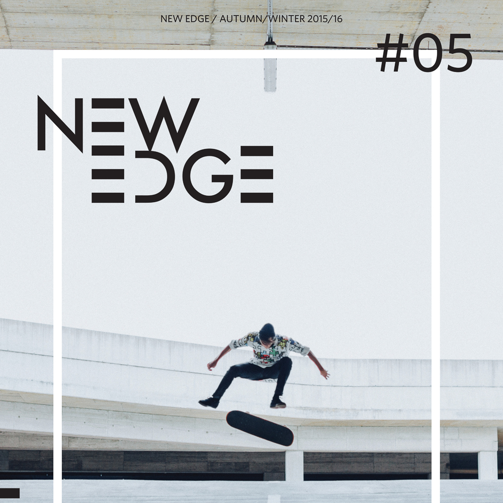 New Edge magazine editorial where fashion meets skateboarding. Luka Bizjak made a great model.