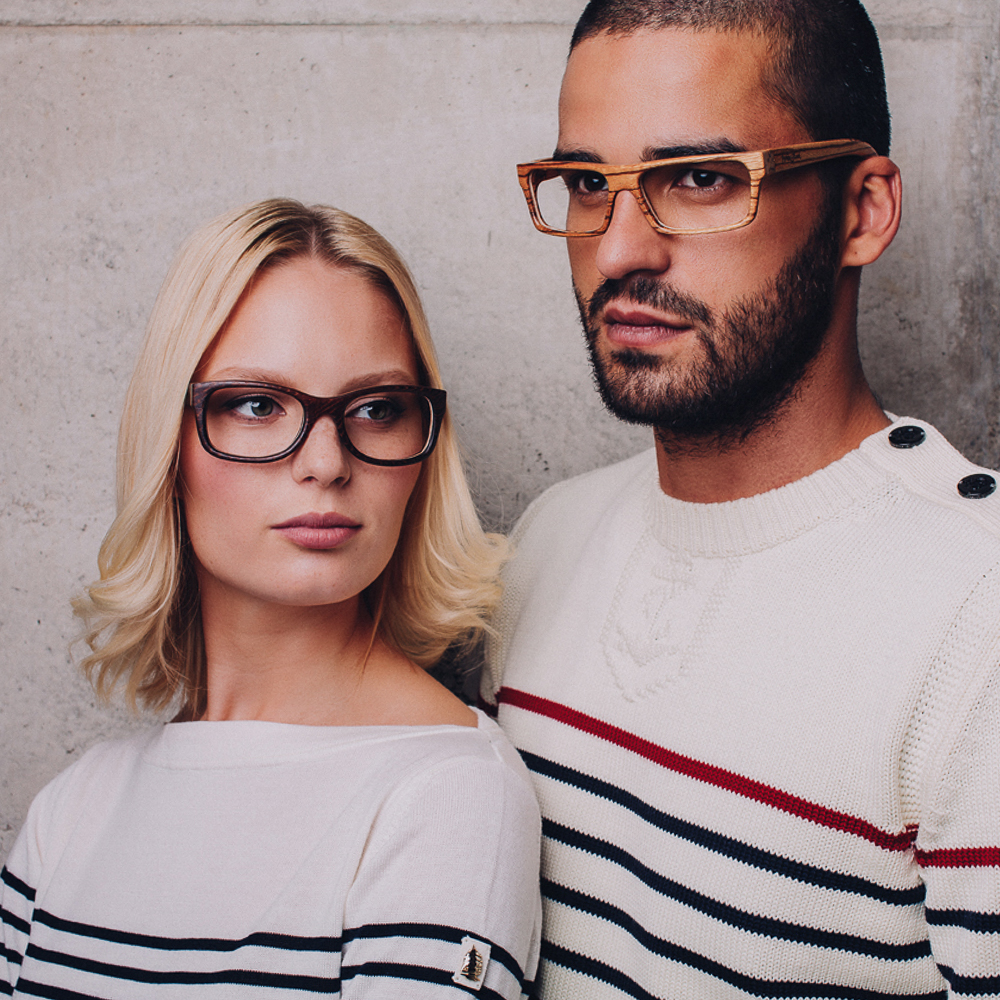 This campaign for wooden handcrafted glasses took place in our capital Ljubljana. The company is called WoodStock.