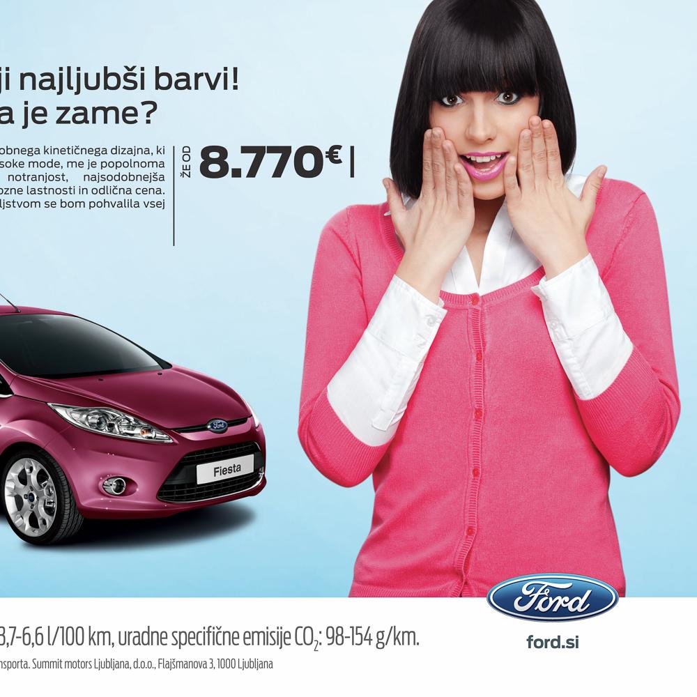 Older Ford billboard campaign for Summit Motors Slovenija.