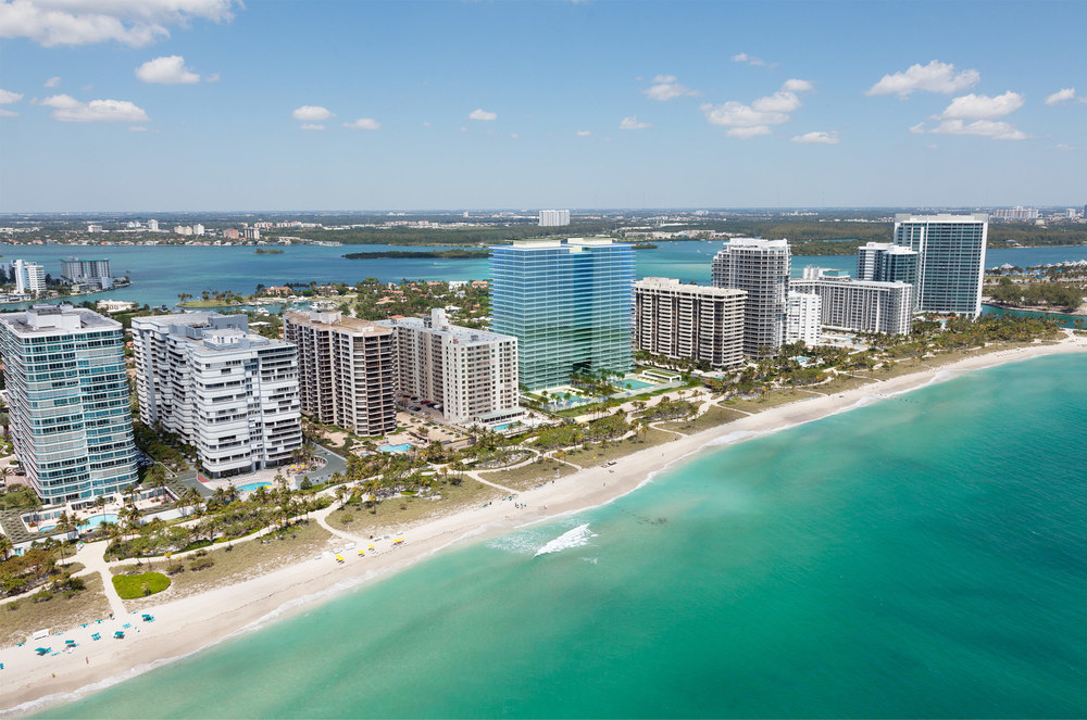 Aerial view rendering for Oceana Bal Harbour condo