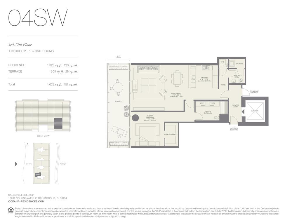 04 SW 1 Bed - 1.5 Bath